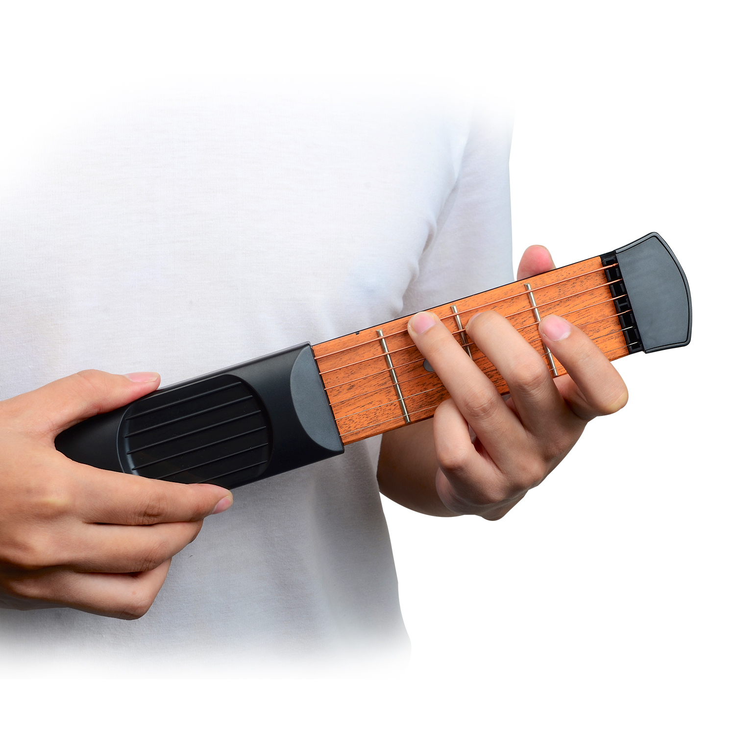 Hot Sale Pocket Acoustic Guitar Practice Tool 6 String Fingerboard 6 Fret Chord Trainer Portable Gadget Musical Instruments Guitar Parts & Accessories
