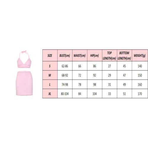 2018 새로운 섹시한 여성 핑크 모피 의류 세트 여름 clubwear 스트랩 홀터 자르기 탑 브래지어 + 미니 bodycon 스커트 레이디 이브닝 파티 의류