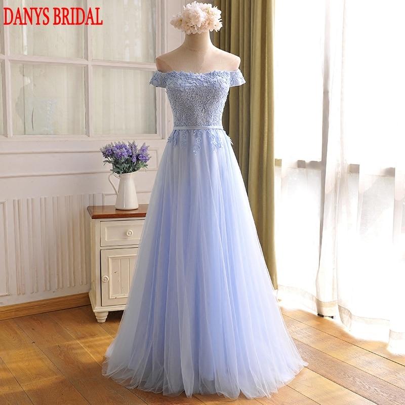 Светло плава дуга вечерња хаљина забава на продају А лине офф рамена пром жене формалне вечерње хаљине хаљине робе де соирее лонгуе