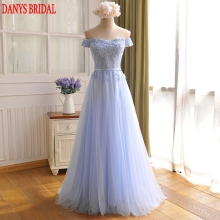 Light Blue Long Evening Dresses Party on Sale A Line Off Shoulder Prom Women Formal Evening Gowns Dresses robe de soiree longue