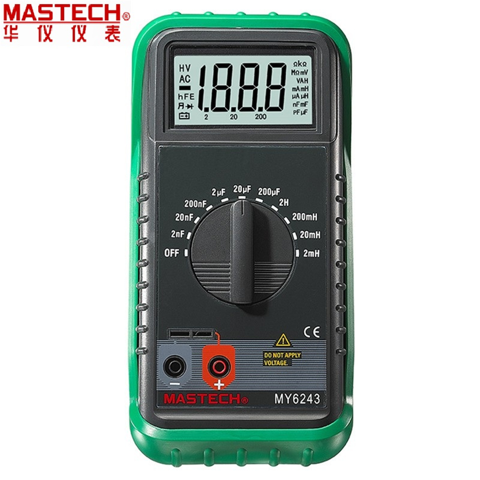 MASTECH MY6243 Portable 3 1/2 1999 count digital LCR Meter inductance capacitance tester лосьон лосьон mac l s fix 100ml