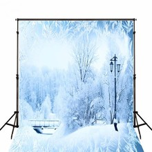 Natal Neve Congelado Ice Inverno madeiras País Das Maravilhas Fundos para venda de Vinil pano de Computador impresso pano de fundo da festa de Alta qualidade