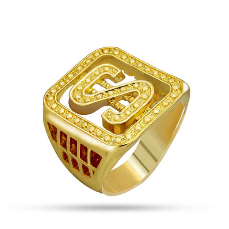 ... Gold Colors Classic Men s Style Punk Hip Hop Ring Cool Lion Head Dollar Ring  Jewelry 2c1425a4e1d0