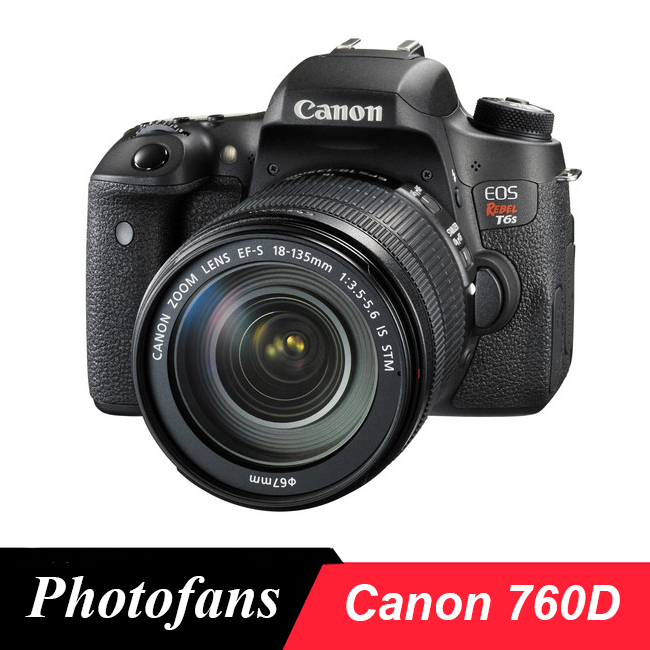 Canon 760D Rebel T6s DSLR Camera -24.2 MP -1080p Video -Vari-Angle Touchscreen -Built-In Wi-Fi -Top LCD Panel ...
