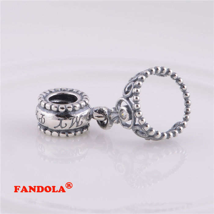 Authentic 925 Sterling Silver My Princess Tiara Original Charms Beads Fits Pandora Bracelets Charm Diy Jewelry Gifts For Women Beads Beads & Jewelry Making