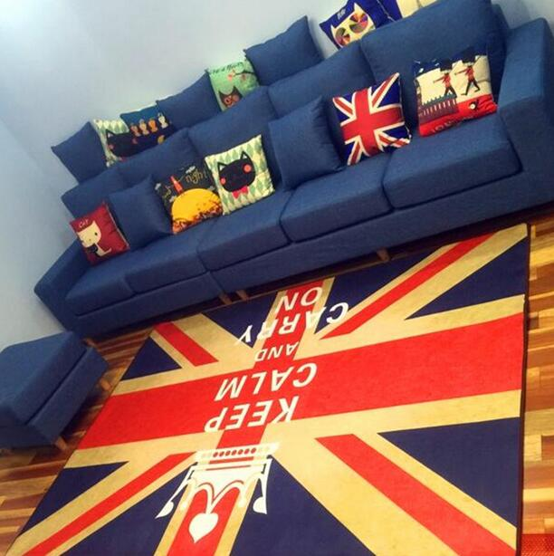 Retro British USA Flag Living Room Bedroom Decorative Carpet Area Rug Bathroom Floor Door Yoga Baby Crawling Play Game Mat