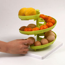 Feature DIY Manually Assemble Shelves Multifunctional Spiral Fruit Egg Shelf Fruit Storage Rack Cocina Accessories