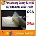 500 шт. Для Samsung Galaxy S2 i9100 ОСА Оптический Ясно Клей Двухместный Бортовой Стикер Клей Толстым Для LCD/Планшета 175/250um