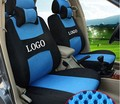 Asiento delantero 2 Para volvo s40 s80 V40 V60 XC60 gris rojo ventilar firma alfabeto Bordado logo Asiento de Coche cubierta