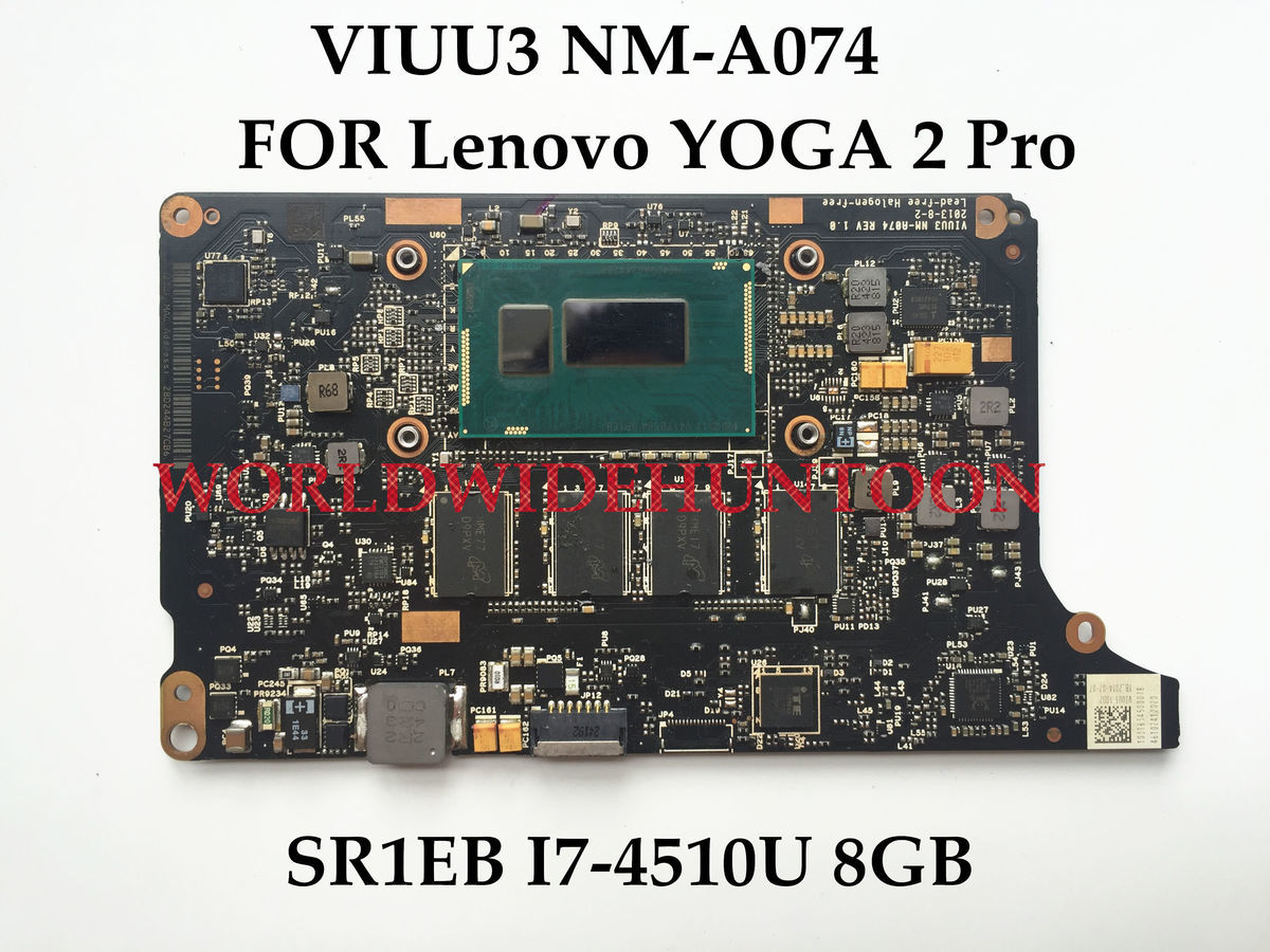US $183 3 6% OFF|High quality VIUU3 NM A074 FOR Lenovo YOGA 2 Pro laptop  Motherboard SR1EB I7 4510U DDR3L 100% Fully Tested-in Motherboards from