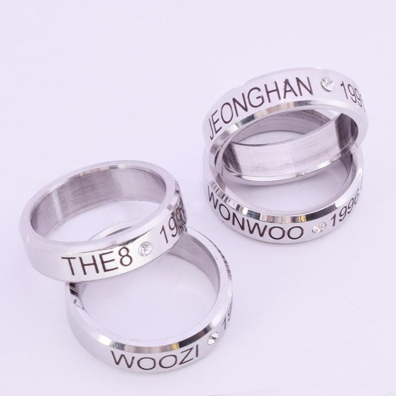 Youpop K-pop Seventeen Album Rope Birthday Ring Accessories Kpop Jewelry K Pop Rings With Lanyard Bf0111 Engagement Rings