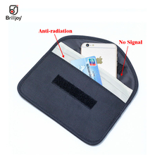 New GSM 3G 4G LTE GPS RF RFID Signal Blocking Bag Anti-Radiation Signal Shielding car keys Pouch Wallet Case Cell Phone 6 Inch crocodile pattern anti radiation signal shielding protective pu bag case for mobile phone brown