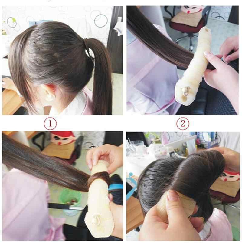 2 pz Chrismas Magia Facile Utilizzo Hairdisk gioielli Ex Anello Shaper Styler Strumenti Dispositivo Pratico Sponge Hair Styling Ciambella Creatore del Panino