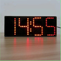 Red LED ECL 132 DIY Clock Kit Remote Control Clock Suit LED Time Screen Display Kit