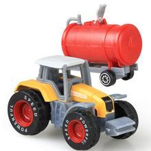 4Pcs/Set Kids Simulate 1:64 Engineering Sliding Farm Tractor Alloy Car Toy