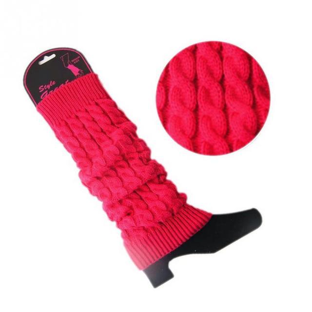 Mode Reine Farbe Acryl Faser Winter Bein Warmersr Gamaschen Stricken ...