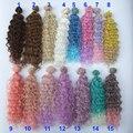 Парики для куклы 15 см, 25 см, термостойкие волосы с глубокой волной для куклы blyth 1/3, 1/4, 1/6, парики для куклы BJD из ткани «сделай сам»