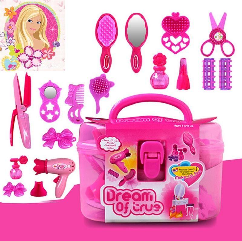 pudcoco Lovely Babies Cute Princess Little Cosmetics Kit Pretend Play Makeup Set Girls Preschool Kid Beauty