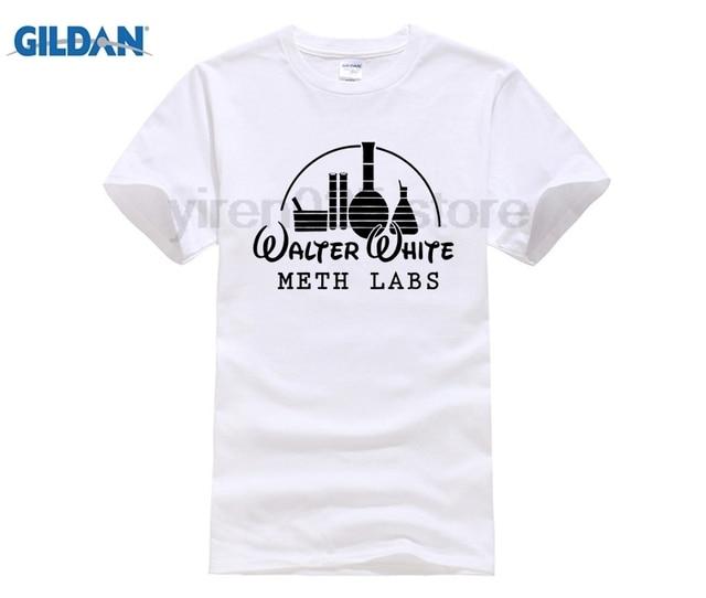 b4a5380ec GILDAN 2018 Newest Walter White Meth Labs T Shirts Men's Breaking Bad  Heisbenberg cotton T-Shirt Summer Hipster Casual Tee s