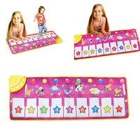 Musical Spielzeug Musik Kids Klavier Spiel Decke Touch Play weiche Tastatur Klapp Elektrische Musik Teppich Matte für Mädchen Baby geschenk