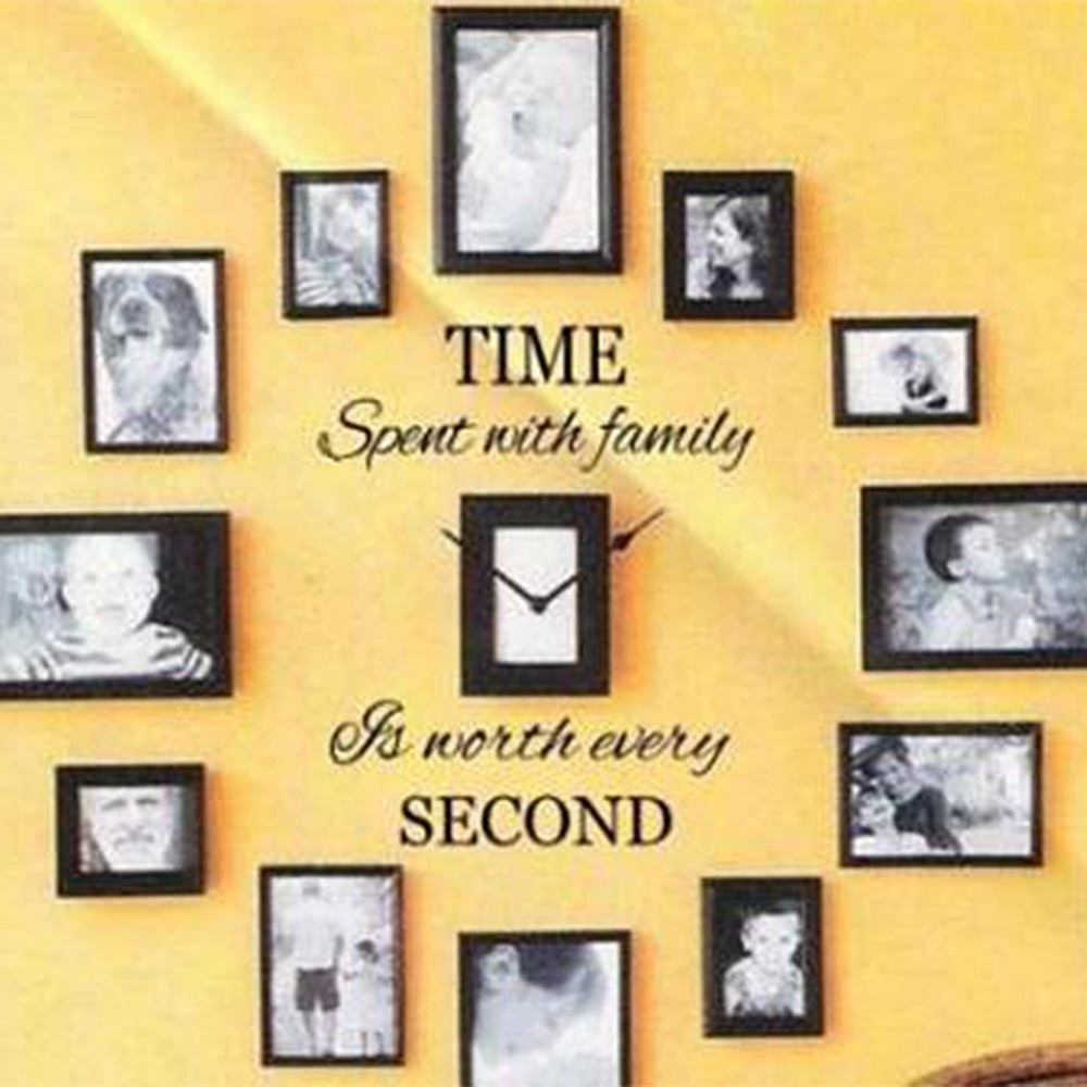 Time Spent with Family is Worth Every Second Art Wall Quote Stickers ...