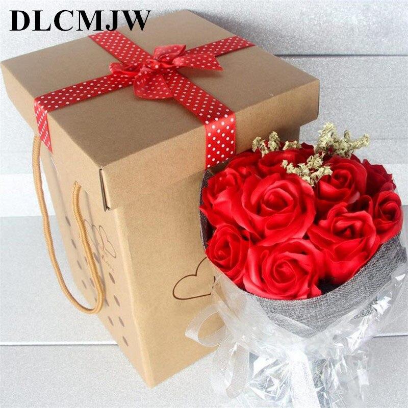 11 Flower Soap Flower Hand Held Flower Gift Box Valentine