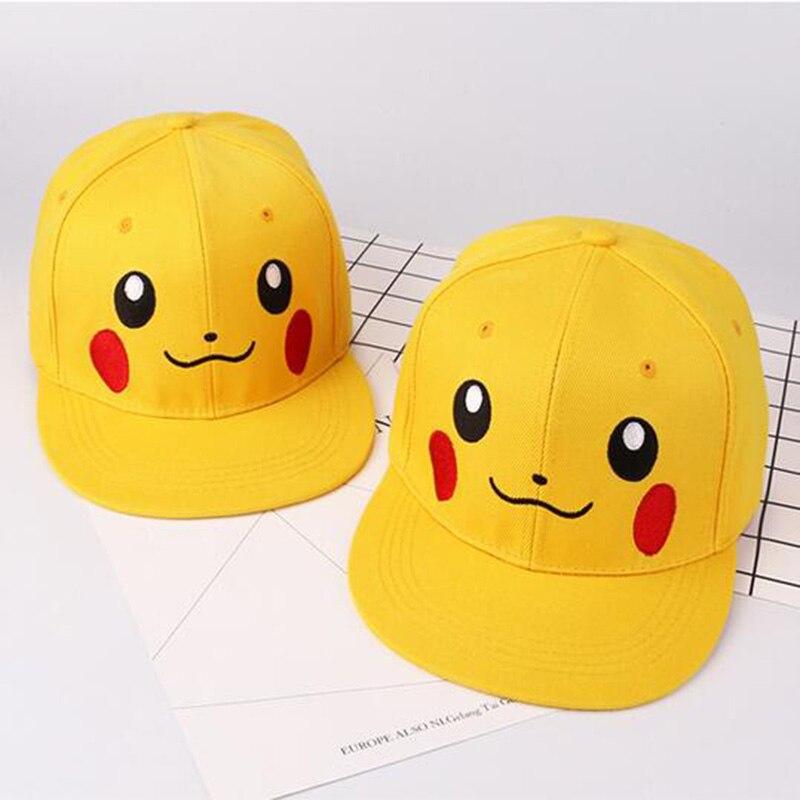 Anime Cartoon Pokemon Cute Hat Unisex Women Men Snapback Adjustable Caps Pikachu Ash Elf C O Baseball Hats Gorras Hombre 75AA514