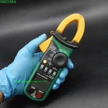 Цифровые Клещи MASTECH MS2108A Авто диапазон Мультиметр AC 400A Текущий Напряжение Частота Мультиметр зажим Тестер Подсветка