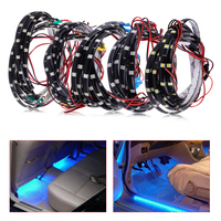 CITALL 4pcs 60cm 24 LED Car Motorcycle Fender Lamps Decor Wheel Well Neon Glow Flexible Soft