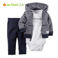 Bebes Roupas 3pcs Clothing Set 6-24 Month Kids Baby Boy Girls Clothes sets Jacket Baby Romper Pant Long Sleeved Infant Outfits