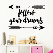 Large follow your dreams Vinyl Wall Sticker Home Decor Stikers For Babys Rooms Stickers Wallpaper