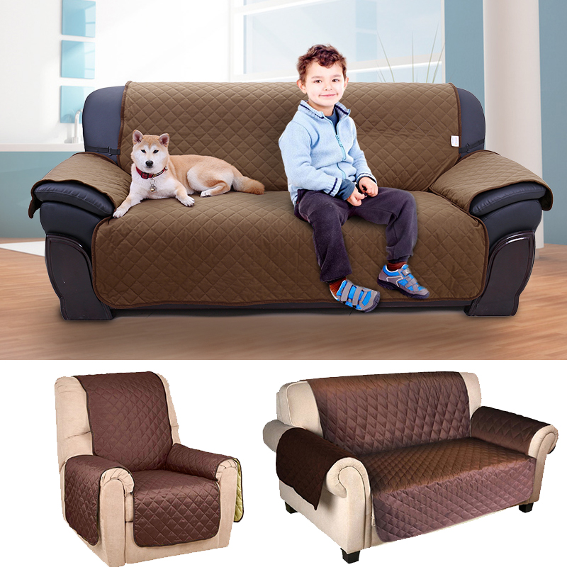 PAWZRoad Pet Dog Sofa Cover Protector for Kid Dog/Cat Couch Chair Covers for 1/2/3 Seat Pet Reversible Furniture Seat Waterproof