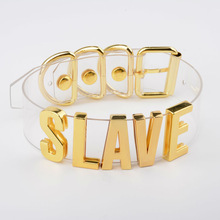 Clear Slave Collar Silver Gold Choker Necklace BDSM