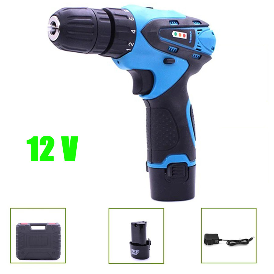 все цены на VOTO Battery Rechargeable Cordless Drill Electric Screwdriver Set Lithium Power Tools Screw Gun Driver 12V Blue With Case 2018 онлайн