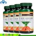4 бутылок 500 мг * 60 капсул Бесплатная доставка Оптовая Натуральный Бета-Каротин Мягких улучшить зрение, антиоксидант против старения