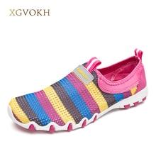 Женская обувь повседневные Модные Slip-On дышащая обувь Летний стиль на плоской подошве для женщин платье Цвет круглый носок удобные лоферы