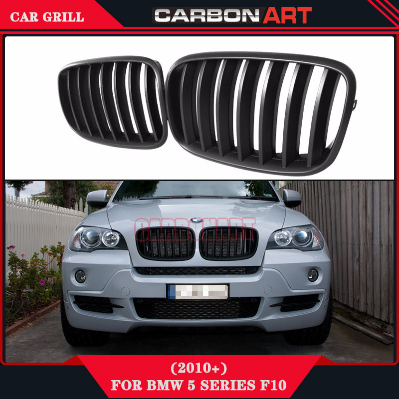 Matt Matte Black ABS OEM x5 aftermarket grills e70 radiator grille x6 bumper grille e71 car mesh for bmw x series 2007-2014 hotsale abs black painted 1 bar car grills front mesh grille with emblem for benz fits for 01 07 w203 c230 c240 c280
