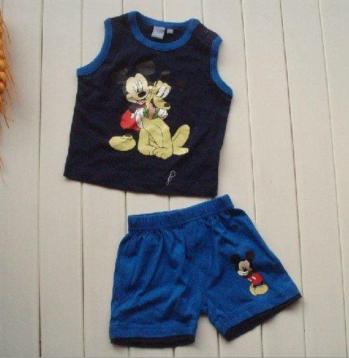11a735deabcf wholesale branded baby boys clothes shorts set Mickey Mouse summer ...