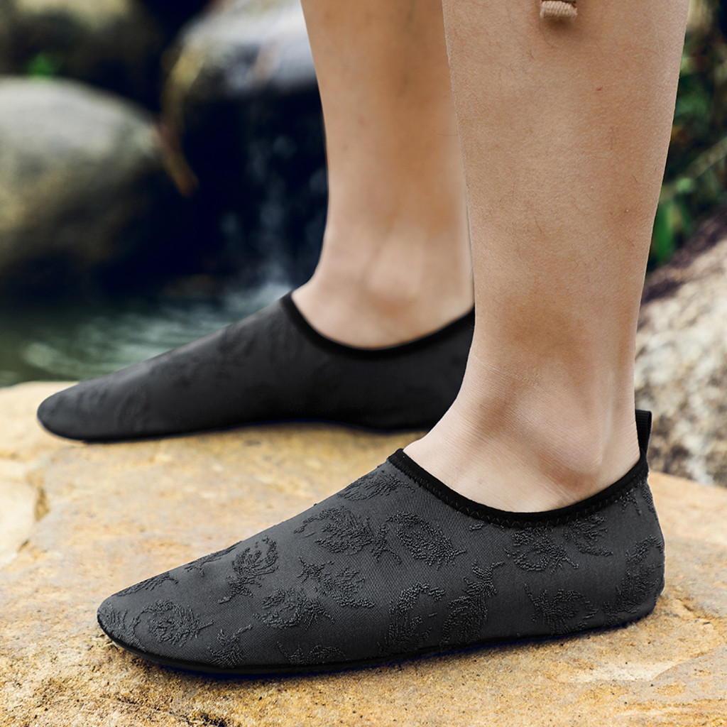 water shoes barefoot quick-dry aqua socks for women men Beach Shoes Swimming Diving Socks Drifting River Wading Shoes #D