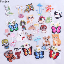Prajna Dog Tiger Patch Cat Self Adhesive Embroidered Patches For Clothes Kids Clothing Diy Applique Badge Decoration Accessories