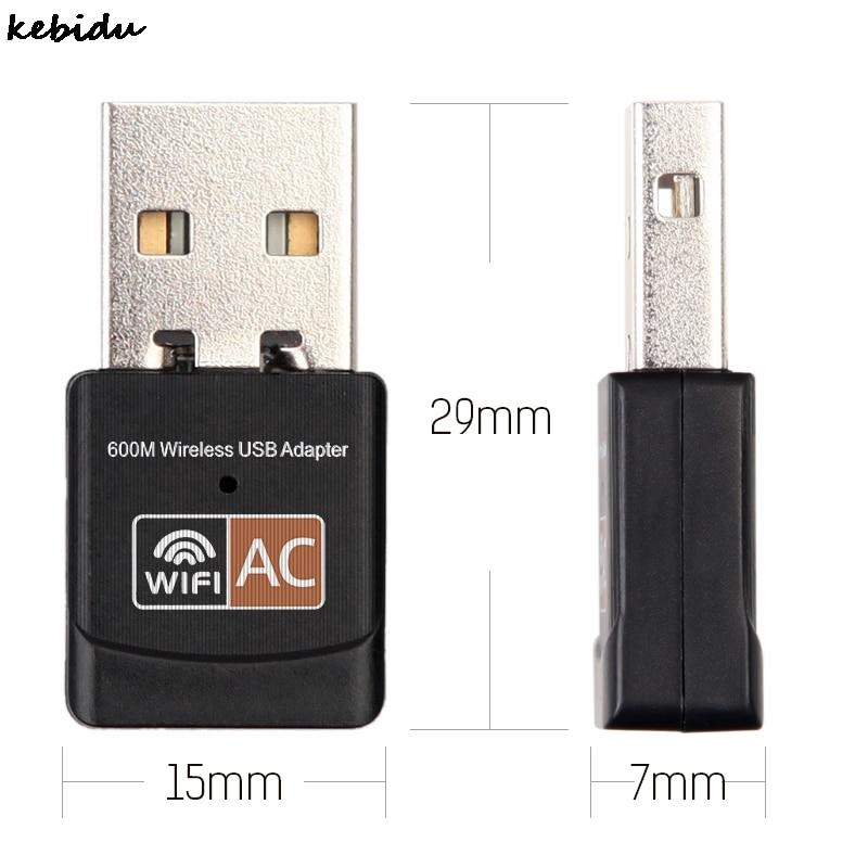 Network Card 2.4GHz 5GHz Mini Wireless Wifi Adapter 600mbps USB WiFi antenna Dual Band Network Card 802.11b/n/g/ac