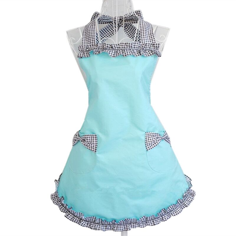 hot retro cotton Cute Work Apron for Women Princess apron Kitchen Aprons Cooking Pinafor ...