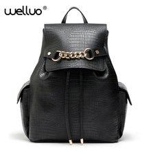 Марка мода женщины рюкзак larage потенциала качество искусственная кожа школьные сумки женский змеиный печать drawstring рюкзак XA292B