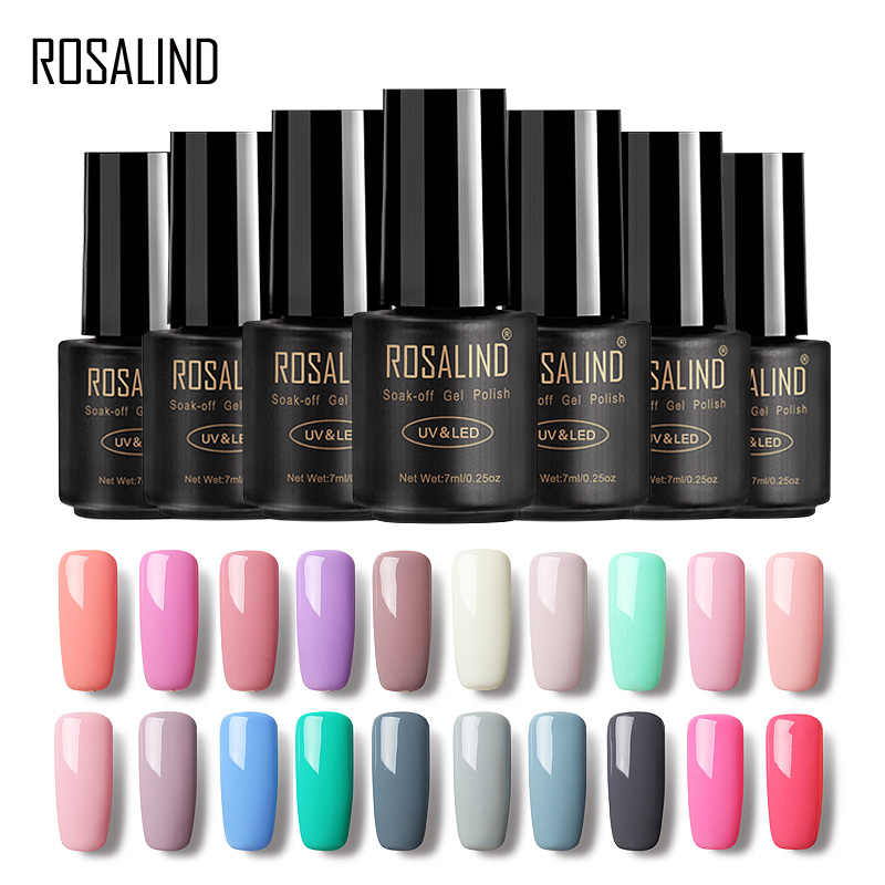 ROSALIND Gel Polish Nail Art Design hybrid 7ML gel for nail primer Vernis Semi Permanent UV Gel Nail Polish Manicure Varnish