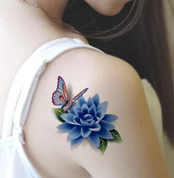 Show me pictures of 3d butterfly tattoos