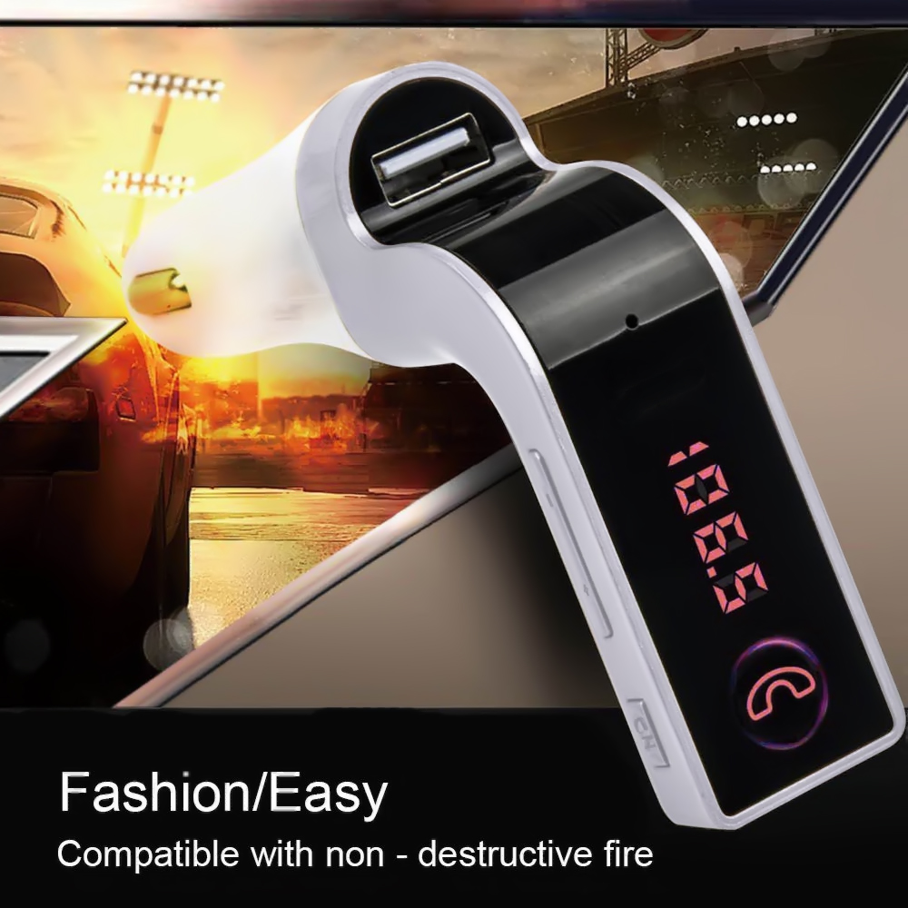 Car Free-style Music 4-in-1 Hands Free Wireless Bluetooth FM Transmitter G7 + AUX Modulator Car Kit MP3 Player SD USB LCD