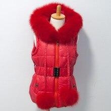 Стиль, хлопковый жилет, бренд Fox Fur Trim hood and poms для детей