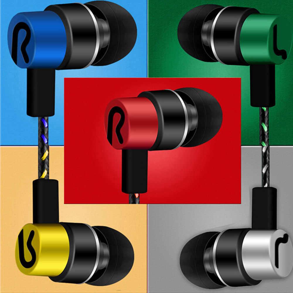 Universal 3.5 มม.หูฟังสเตอริโอหูฟังหูฟังสำหรับโทรศัพท์มือถือชุดหูฟังที่มีสีสันเสียงรบกวนในหูฟัง auriculares con สาย #0