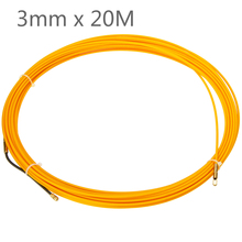 цена на Mayitr 20M 3mm Fiberglass Cable Push Pullers Duct Snake Rodder Tape Wire Cable Rodder Wire Guide Device