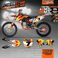 Custom Team Graphics & Backgrounds Decals 3M Customized  Design Sticker Kits For KTM SX SXF  EXC XCW 2003-16 Free Shipping